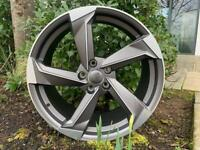 "19"" Audi A9 Concept style alloy wheels Fit - Audi A3, A4 VW MK5,6,7, Golf, Caddy, Jetta, Passat,"