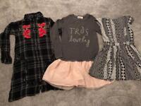 Girls clothing summer winter bundles dress cardigan age 7 years
