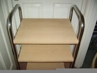 COMPUTER PRINTER TROLLEY TABLE