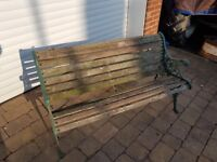 """Cast iron & wood garden seat/bench, 48""""long, 'Buy one get one free'"""