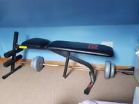 Pro Power Weight Bench + 39.5kgs York Weights