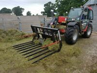 Buckrake, grape, grassfork, buckets to suit tractor loader, telehandler