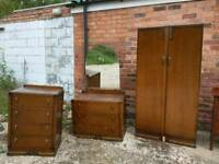 Vintage bedroom furniture wardrobe dresser drawers