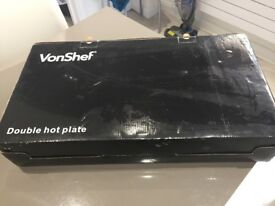 VonShef Double Hotplate