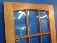 Internal glazed semi hardwood door