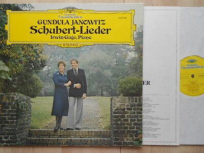 DGG - Schubert Lieder - JANOWITZ Gage nm