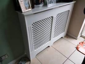 2 x white radiator covers