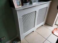 2 x white radiator covers