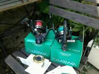 A pair of Daiwa Windcast 5500 LDA, Fishing Reels.