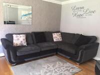 Corner Sofa, Chair & Pouffe