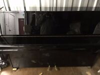 Black upright Piano 88 Keys