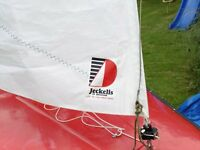 GRP sailing dinghy with Bermudan rig £450.00