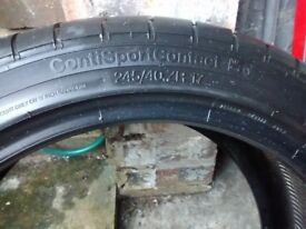 Continental conti sport contact 245/40 ZR 17 drivers side