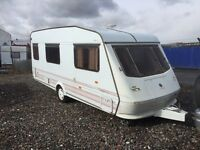 Elddis Vouge 4 berth 17ft cassette toilet shower blinds fly nets hot and cold ruining water 12/240