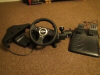 Logitech Driving Force Pro Steering Wheel GT Edition - PS2/PS3 Compatible