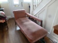 Dusky Pink Chaise Lounge