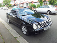 Mercedes Clk 320 Convertible Auto 02 Plate Black Elegance (with up grade pack) immaculate 1 p owner