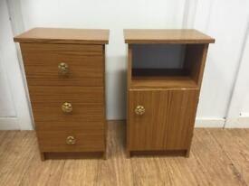 Pair of vintage bedside cabinets