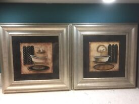 Two gold framed pictures