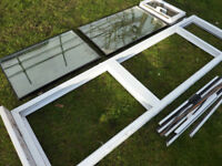 uPVC Window Frame with Top Opener (Fanlight) + Double Glazing (Glass) with Trim