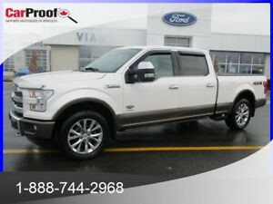 2016 FORD F-150 4WD SUPER CREW 157'' WB KING RANCH*3.5L ECOBOOST