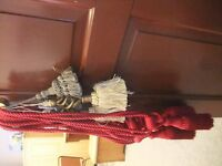 luxury curtain tie backs 5 pairs assorted sizes and colours unused and in excellent condition