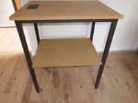 Classic 2 level Telephone Table. Very Hard wearing Ideal for Printer, etc. Oak effect