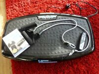 Vibrapower Slim with Resistance Bands and Remote Control and DVD