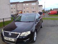 2006 BLACK VW PASSAT 2.0 TDI SPORT 140 MANUAL LOW MILEAGE.