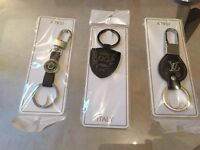 ***Designer key rings, LV, VERSACE, DG. BRAND NEW!!! SALE!!! WHOLESALE!!!(60 PCS)
