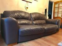 Large 3 seater leather sofa - Open to sensible offers!