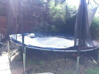 12 foot trampoline with ladder and netting