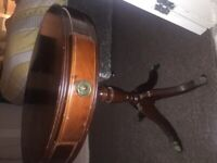Lion ball claw foot drum table