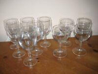 6 + 4 WINE GLASSES - (Kirkby in Ashfield)