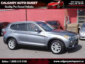 2013 BMW X3 xDrive28i PREMIUM PKG/AWD/LEATHER/ROOF