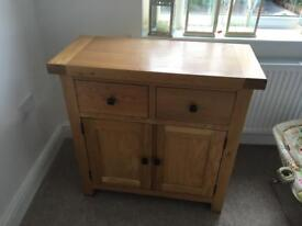 Oak side board
