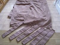 "3 pairs fabulous CURTAINS- 2 pairs 88"" x 54""--- 1 pair (not used) 62"" x 54"" down and 6 ties"
