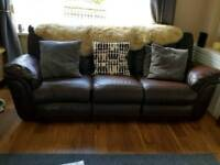 3 seated leather recliner sofa