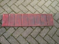 IMPRINTED CONCRETE RUBBER EDGE MOULD. BLOCK PAVING PATTERN. EXCELLENT CONDITION.