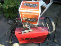 Super Mig 180 Power Welder {sealey}. With helmet