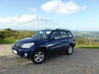 Toyota RAV4 XT3 VVT-I, 2.0l Petrol 4x4, Manual 2004 – Metallic blue, 87k miles, MOT Feb 2017