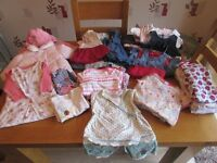 GIRLS BABY CLOTHES BUNDLE AGE 3 - 6mths - 32 ITEMS IN TOTAL !!!