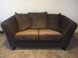 2 x NEXT Sofas (2 Seater and 3 Seater) - Dark Brown (Collection only - Boroughbridge area)