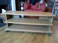 Light Wood TV/Hi Fi Shelf Unit