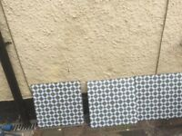 Victorian Edwardian Style 3 x Henley cool Tiles