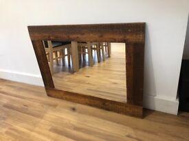 Wooden Mirror 92cm x 68cm