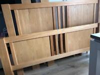 OAK King Size bed frame