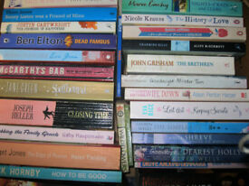 Paperback books, mainly fiction. £1 each