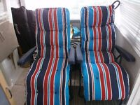 Recliner Sun Loungers ,good clean condition