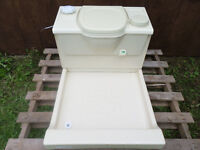 Thetford C2 12v Flush Cassette Toilet With Shower Tray - Caravan - Motorhome- Van Conversion